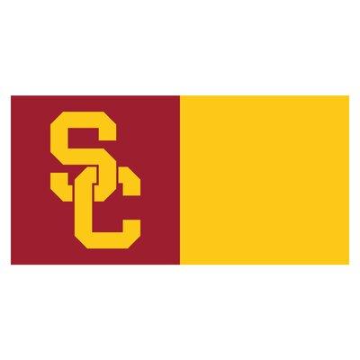 Collegiate 18 x 18 Carpet Tiles in Multi-Colored NCAA Team: University of Southern California