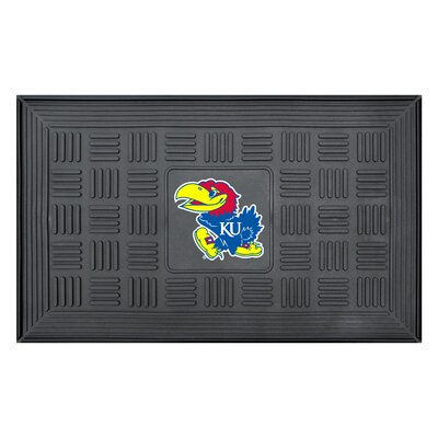 NCAA University of Kansas Medallion Door Mat