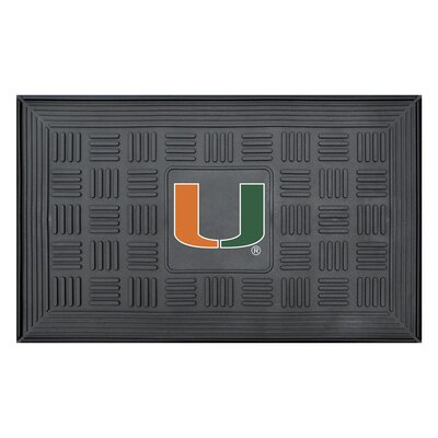 NCAA University of Miami Medallion Door Mat