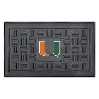 NCAA University of Miami Medallion Door Mat