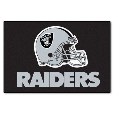 NFL - Oakland Raiders Doormat Mat Size: 1'8