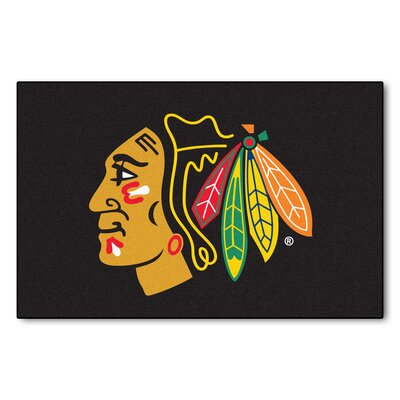 NHL - Chicago Blackhawks Doormat Mat Size: 18 x 26