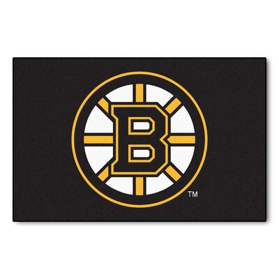 NHL - Boston Bruins Doormat Rug Size: 18 x 26