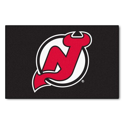 NHL - New Jersey Devils Doormat Rug Size: 18 x 26