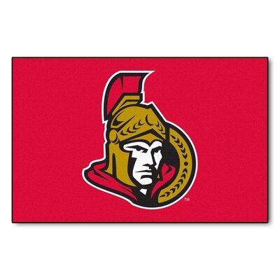NHL - Ottawa Senators Doormat Mat Size: 17 x 26