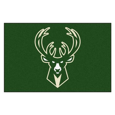 NBA - Milwaukee Bucks Doormat Mat Size: 5 x 8