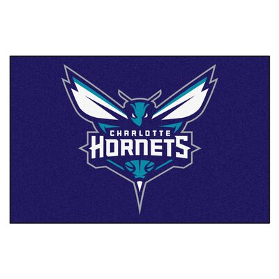 NBA - Charlotte Hornets Doormat Rug Size: 1'7