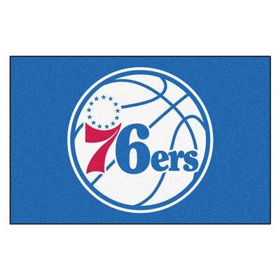 NBA - Philadelphia 76ers Doormat Rug Size: 17 x 26