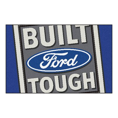 Ford - Built Ford Tough Tailgater Mat Rug Size: 17 x 26