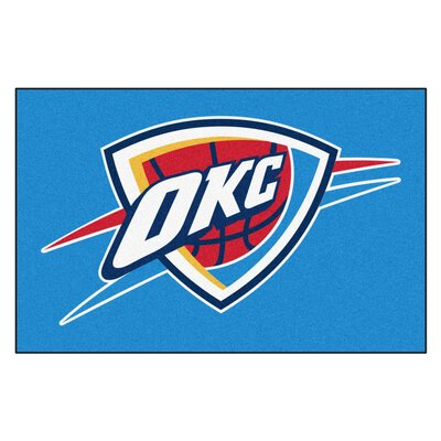 NBA - Oklahoma City Thunder Doormat Rug Size: 17 x 26