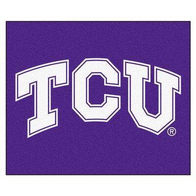 NCAA Texas Christian University Indoor/Outdoor Area Rug