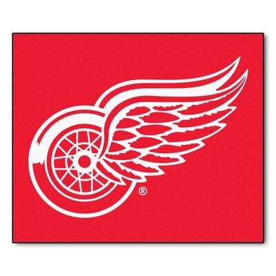 NHL - Detroit Red Wings Doormat Mat Size: 5 x 511