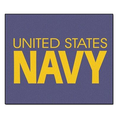 MIL U.S. Navy Doormat Rug Size: 5 x 6