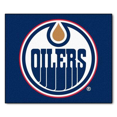 NHL - Edmonton Oilers Doormat Rug Size: 5 x 6