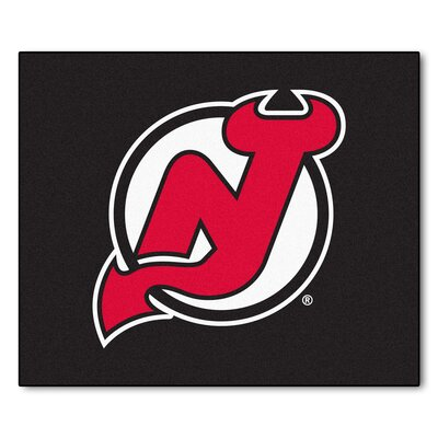 NHL - New Jersey Devils Doormat Rug Size: 5 x 6