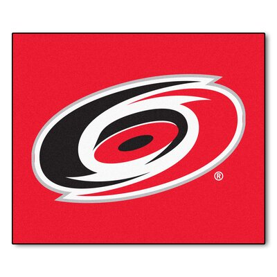 NHL - Carolina Hurricanes Doormat Rug Size: 5 x 6