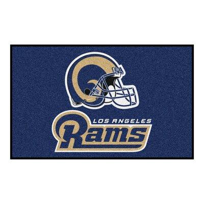 NFL - Los Angeles Rams Starter Doormat Rug Size: 5' x 8'