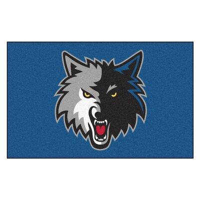 NBA - Minnesota Timberwolves Doormat Mat Size: 5 x 8