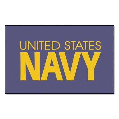 MIL U.S. Navy Doormat Rug Size: 5 x 8
