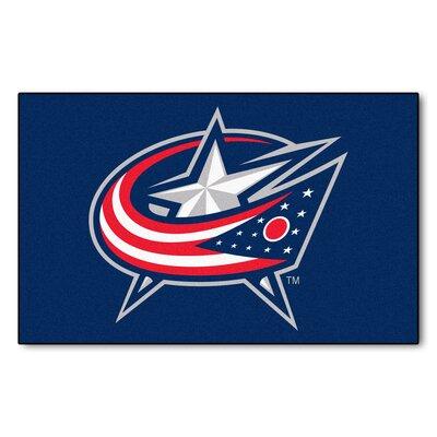 NHL - NCAAumbus Blue Jackets Doormat Rug Size: 5 x 8
