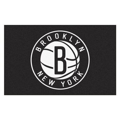 NBA - Brooklyn Nets Doormat Rug Size: 5 x 8