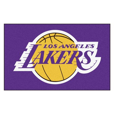 NBA - Los Angeles Lakers Doormat Mat Size: 5 x 8