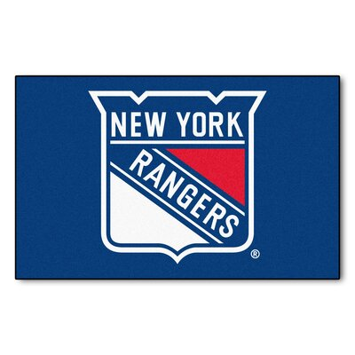 NHL - New York Rangers Tailgater Doormat Mat Size: 5 x 6