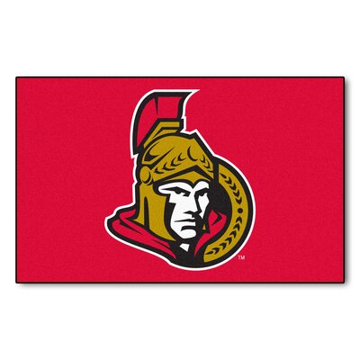 NHL - Ottawa Senators Doormat Rug Size: 5 x 711