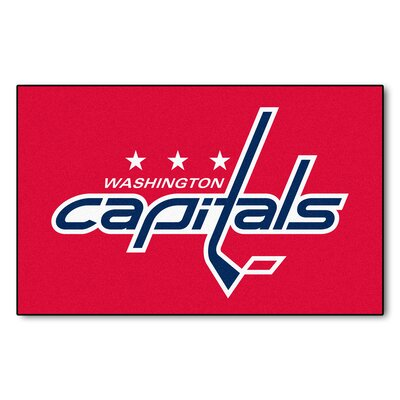 NHL - Washington Capitals Doormat Mat Size: 5 x 8