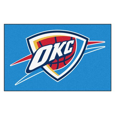 NBA - Oklahoma City Thunder Doormat Rug Size: 5 x 8