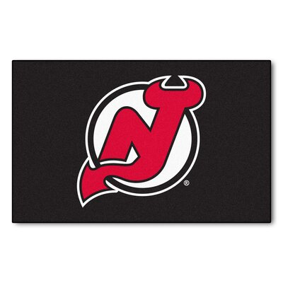 NHL - New Jersey Devils Doormat Rug Size: 5 x 8