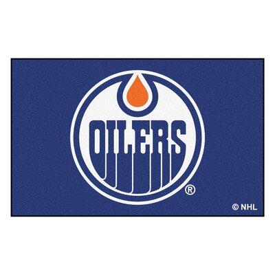 NHL - Edmonton Oilers Doormat Rug Size: 5 x 8