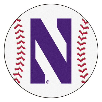 NCAA Northwestern University Baseball Mat