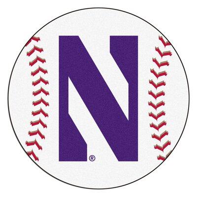 NCAA Northwestern University Baseball Mat