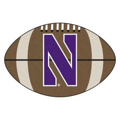 NCAA Northwestern University Football Mat