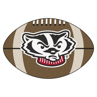 NCAA University of Wisconsin Football Mat