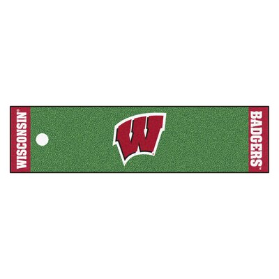 NCAA University of Wisconsin Putting Green Doormat