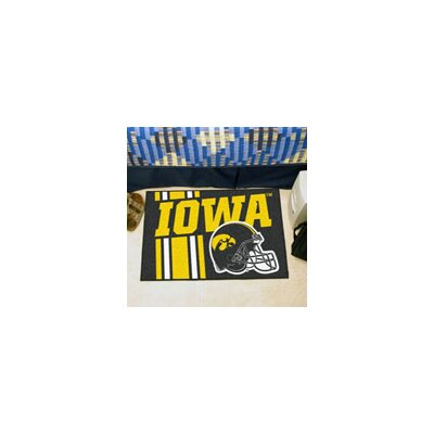 NCAA University of Iowa Starter Doormat