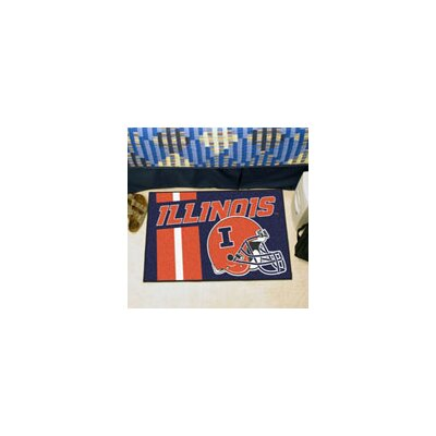 NCAA University of Illinois Starter Doormat