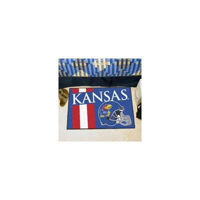 NCAA University of Kansas Starter Doormat