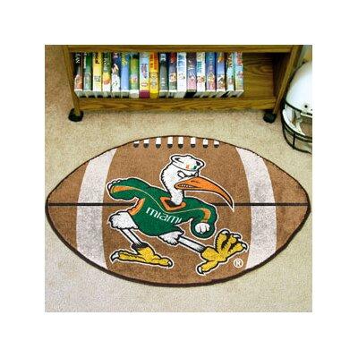NCAA University of Miami Football Mat