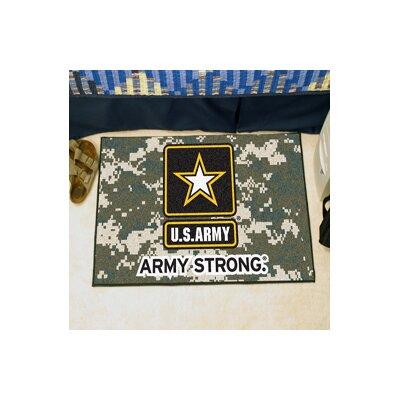 MIL U.S. Army Doormat Rug Size: 18 x 26