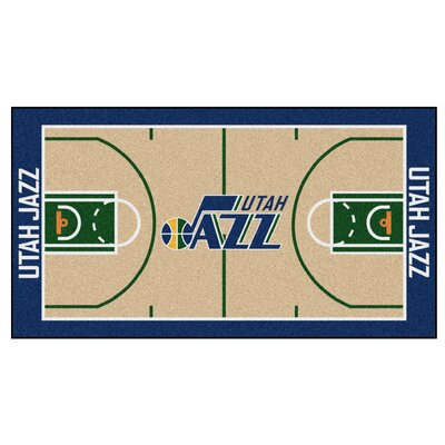 NBA - Utah Jazz NBA Court Runner Doormat Rug Size: 25.5 x 46