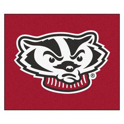 NCAA University of Wisconsin Indoor/Outdoor Area Rug