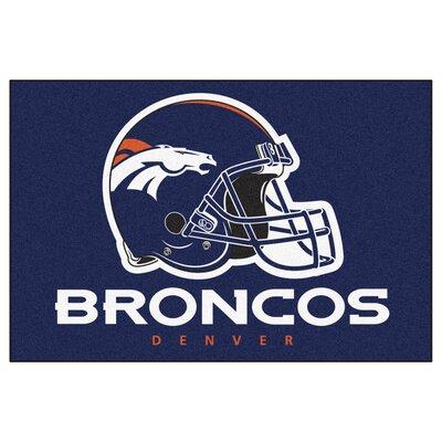 NFL - Denver Broncos Doormat Rug Size: 5 x 8