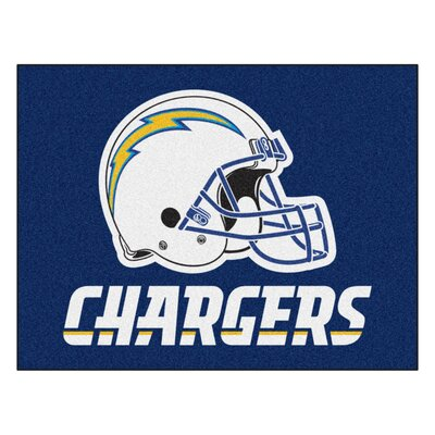 NFL - San Diego Chargers Tailgater Mat Mat Size: 210 x 38.5
