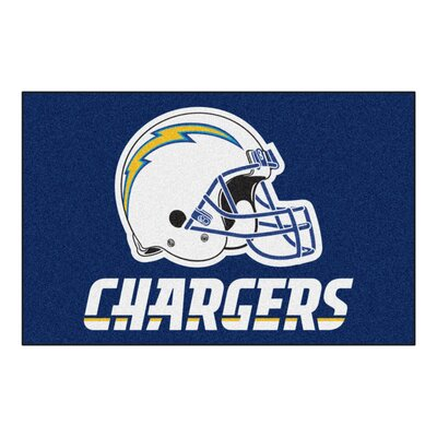 NFL - San Diego Chargers Tailgater Mat Rug Size: 18 x 26