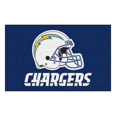 NFL - San Diego Chargers Tailgater Mat Rug Size: 5 x 8