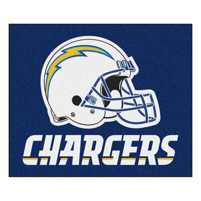 NFL - San Diego Chargers Tailgater Mat Mat Size: 5 x 6