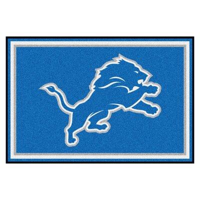 NFL - Detroit Lions 4x6 Rug Mat Size: 4 x 6
